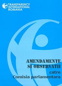 Amendamente si observatii catre Comisia Parlamentara