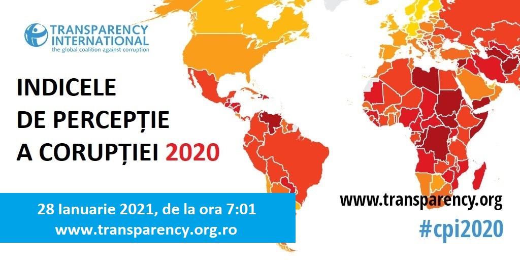 Indicele de Perceptie a Coruptiei 2020